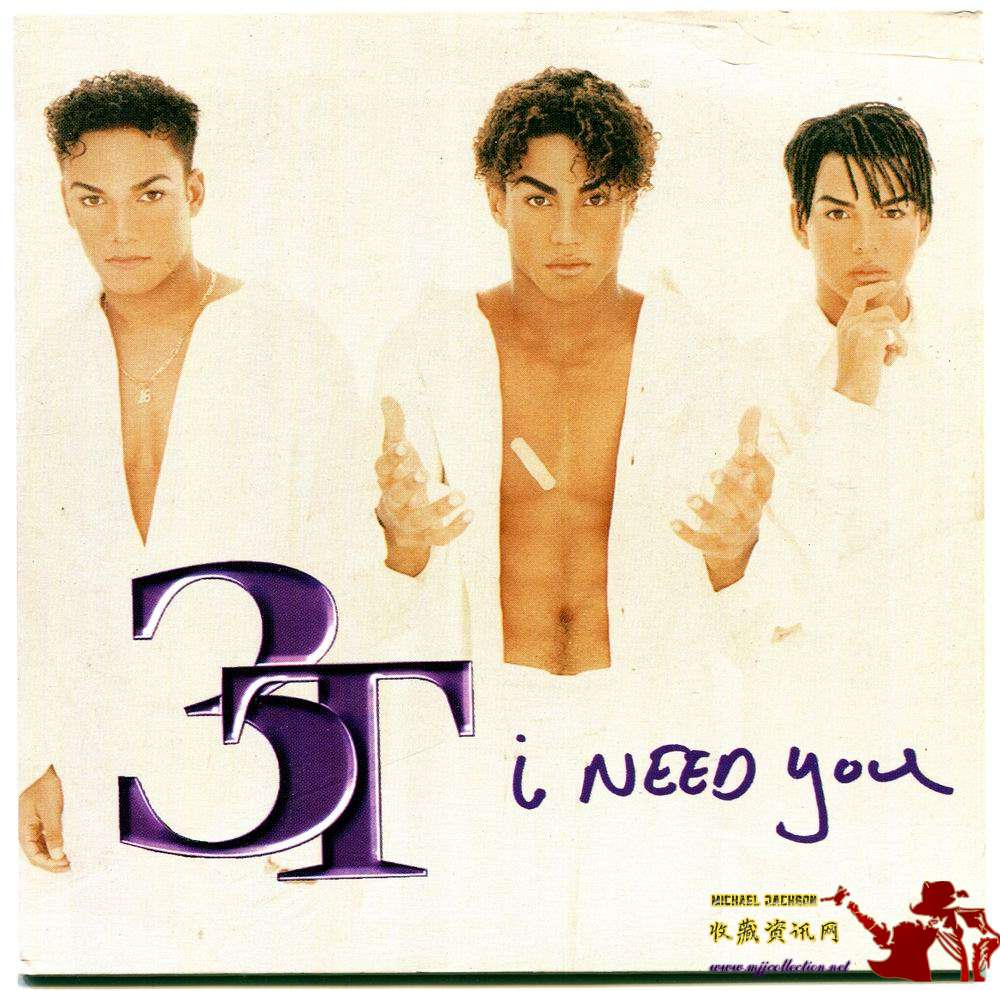 1996-MICHAEL JACKSON&3T-I NEED YOU-2 TRACKS-AUSTRIA CARDBOARD CDSINGLE-奥地利卡版